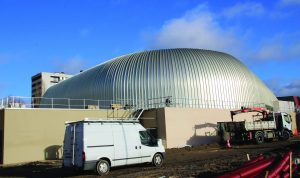 Complexe sportif Henri-Vidal en construction