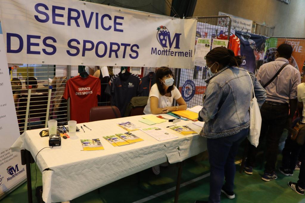 Service des Sports de Montfermeil au forum des associations