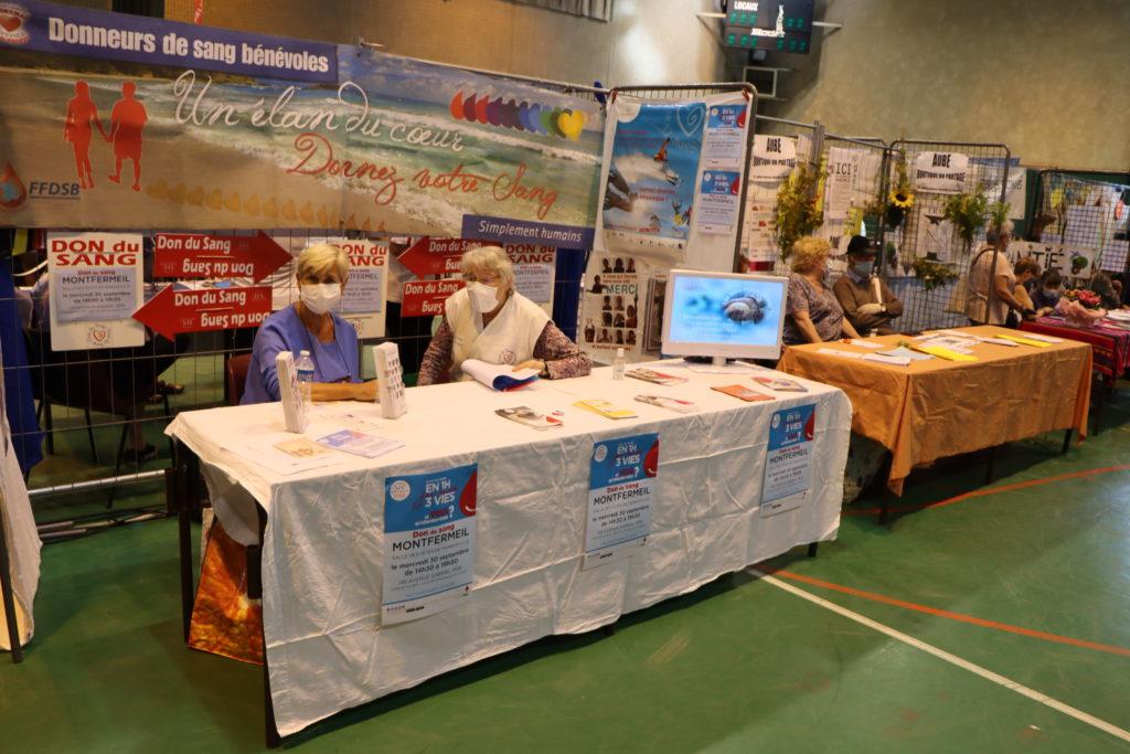 Don du sang au forum des associations - Montfermeil