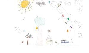 """Concours de dessin """"Imagine une abeille dans ta ville en 2030"""" - Abygaelle Boyer"""