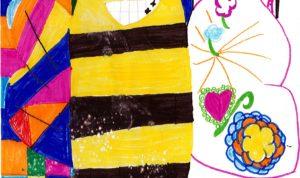 """Concours de dessin """"Imagine une abeille dans ta ville en 2030"""" - Allyah Barbier"""