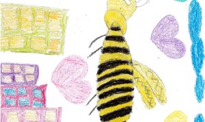 """Concours de dessin """"Imagine une abeille dans ta ville en 2030"""" - Aylin Yildiz"""
