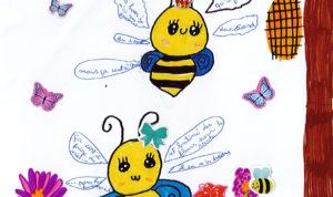 """Concours de dessin """"Imagine une abeille dans ta ville en 2030"""" - Crystale Lecomte"""