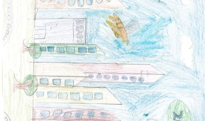 """Concours de dessin """"Imagine une abeille dans ta ville en 2030"""" - Ellana Grandin"""