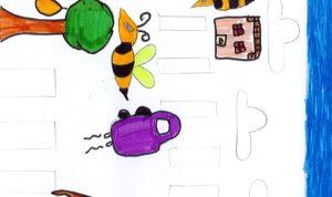 """Concours de dessin """"Imagine une abeille dans ta ville en 2030"""" - Fouanadio Vianey"""