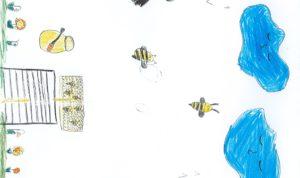 """Concours de dessin """"Imagine une abeille dans ta ville en 2030"""" - Gabriela Lungu"""