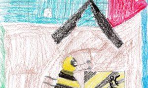 """Concours de dessin """"Imagine une abeille dans ta ville en 2030"""" - Kenzo Mendes"""