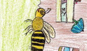"""Concours de dessin """"Imagine une abeille dans ta ville en 2030"""" - Léa Fercot"""