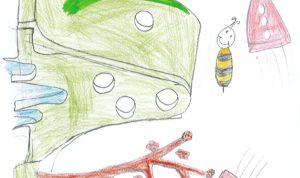 """Concours de dessin """"Imagine une abeille dans ta ville en 2030"""" - Leanne Debellis"""