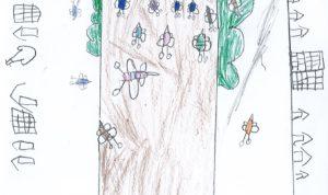 """Concours de dessin """"Imagine une abeille dans ta ville en 2030"""" - Noah Henry"""