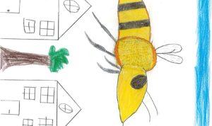 """Concours de dessin """"Imagine une abeille dans ta ville en 2030"""" - Sabry"""