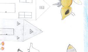 """Concours de dessin """"Imagine une abeille dans ta ville en 2030"""" - Sahra Chennine"""