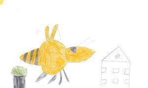 """Concours de dessin """"Imagine une abeille dans ta ville en 2030"""" - Sofiane"""