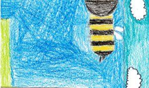"""Concours de dessin """"Imagine une abeille dans ta ville en 2030"""" - Younes Bakkouri"""