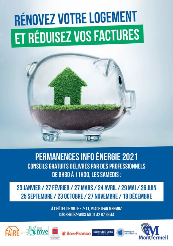Permanences info énergie 2021